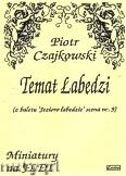 Okładka: Czajkowski Piotr, Temat Łabędzi