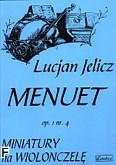 Ok�adka: Jelicz Lucjan, Menuet op.1.nr. 4