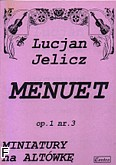 Okładka: Jelicz Lucjan, Menuet op.1nr 3