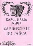Ok�adka: Weber Carl Maria von, Zaproszenie do ta�ca