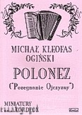 Okładka: Ogiński Michał Kleofas, Polonez a-moll
