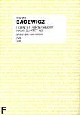 Okładka: Bacewicz Grażyna, I Kwintet fortepianowy (partytura + głosy)