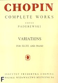 Ok�adka: Chopin Fryderyk, Variations for Flute and Piano - Complete Works