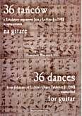 Ok�adka: Wieczorek Franciszek, 36 ta�c�w z Tabulatury organowej Jana z Lublina w opracowaniu na gitar�