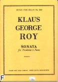 Okładka: Roy Klaus George, Trombone sonata trombone and piano op.13