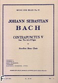 Ok�adka: Bach Johann Sebastian, Art of fugue/contrapunctus 5 brass quintet/score and parts