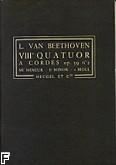 Okładka: Beethoven Ludwig van, VIII Kwartet smyczkowy op. 59 nr 2 e-moll (partytura)