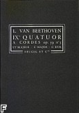 Okładka: Beethoven Ludwig van, IX Kwartet smyczkowy op. 59 nr 3 C-dur (partytura)