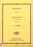 Ok�adka: Mozart Wolfgang Amadeusz, 3 cadences pour le concerto en re flute seule