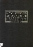 Okładka: Beethoven Ludwig van, XII Kwartet smyczkowy op.127 Es-dur (partytura)
