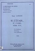 Okładka: Lancen Serge, Si j'etais (nr 37 Beethoven/ nr 38 Grieg/nr 39 Tchaikowski)