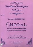 Okładka: Buxtehude Dietrich, Choral: Mit fried und frund ich fahr dahin (en pax joi je quite mde)