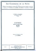Okładka: Gluck Christoph Willibald von, Orphee - scene des Champs-Elysees