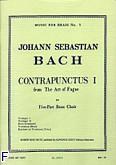 Ok�adka: Bach Johann Sebastian, Art of fugue/contrapunctus 1 brass quintet/score and parts(ption/pties)mfb005