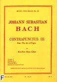 Ok�adka: Bach Johann Sebastian, Art of fugue/contrapunctus 3 brass quintet/score and parts(ption/pties)mfb035