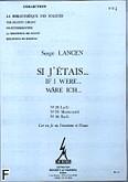 Okładka: Lancen Serge, Si j'etais (nr 28 Lulli/nr 29 Monteverdi/ne 30 Bach)