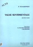 Okładka: Czajkowski Piotr, Valse sentimentale alto et piano