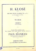 Okładka: Klosé H., Oberon: Petite Fantaisie clarinette sib et piano