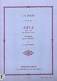 Okładka: Bach Johann Sebastian, Aria 4 trombones BWV 1068 (partytura+głosy)