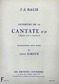 Okładka: Bach Johann Sebastian, Ouverture de la cantate nr 29 piano