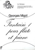 Okładka: Migot Georges, Fantaisie 1 flute et piano (le verseau)