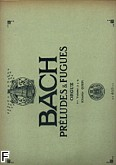 Okładka: Bach Johann Sebastian, Preludes et fugues volume 1 nr 1 a 5 (ef453) orgue