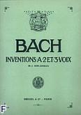 Okładka: Bach Johann Sebastian, Inventions a 2 et 3 voix