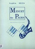 Okładka: Bozza Eugene, Menuet des pages