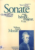 Ok�adka: Mozart Wolfgang Amadeusz, Sonate clarinette et piano k454 sib majeur