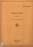 Okładka: Challan Henri, Ballade violoncelle et piano