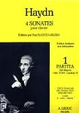 Okładka: Haydn Franz Joseph, 4 sonates pour clavier vol.1:partita sol maj(hob 16/6)
