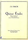 Okładka: Bach Johann Sebastian, 15 etudes