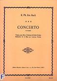 Okładka: Bach Carl Philipp Emmanuel, Koncert a-moll na altówkę i fortepian