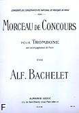Okładka: Bachelet Alfonso, Morceau de concours trombone et piano