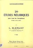Okładka: Blemant L., 20 etudes melodiques volume 2