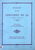 Okładka: Mozart Wolfgang Amadeusz, Concerto en la clarinette et piano (cadences de j.ibert) op. 107