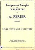 Ok�adka: Perier A., 20 etudes de virtuosite clarinette