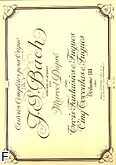 Ok�adka: Bach Johann Sebastian, Oeuvres completes pour orgue vol 03. 8 fantasies et fgues/5 toccatas et fgues