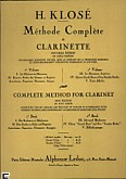 Okładka: Klosé H., Methode de clarinette complete (francais, anglais)