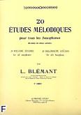 Okładka: Blemant L., 20 etudes melodiques volume 1