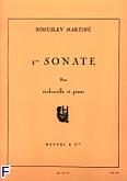 Okładka: Martinů Bohuslav, Sonate nr 1 pour violoncelle et piano