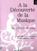 Ok�adka: Didier Yves, A la Decouverte de la Musique des XVII et XVIII siecles vol. 1