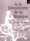 Okładka: Didier Yves, A la Decouverte de la Musique des XVII et XVIII siecles vol. 2