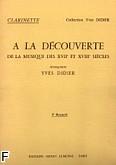 Okładka: Didier Yves, A la Decouverte de la Musique des XVII et XVIII siecles