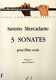 Okładka: Mercadante Saverio, 3 Sonates pour Flute seule