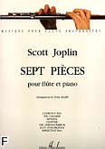 Okładka: Joplin Scott, Pieces (7) - Flute et Piano Trans. MABRY