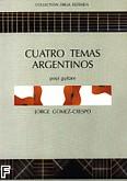 Ok�adka: Gomez-Crespo Jorge, Cuatro Temas Argentinos