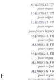 Okładka: Leguay Jean-Pierre, Madrigal VII