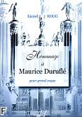 Ok�adka: Rogg Lionel, Hommage a Maurice Durufl�
