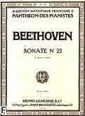 Ok�adka: Beethoven Ludwig van, Sonate N�22 - F-dur Op.54